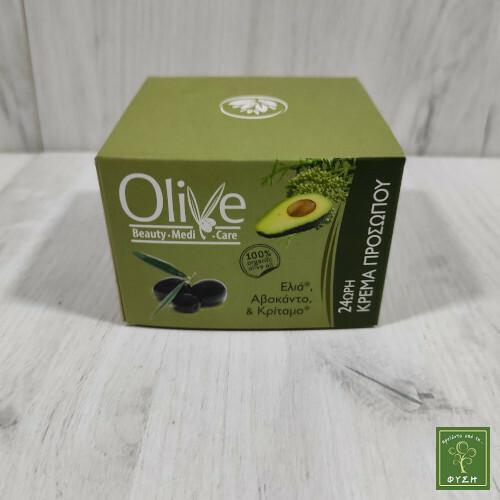 Olive 24ωρη Κρέμα Προσώπου